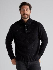 Lucky Brand Donegal Button Mock Sweater