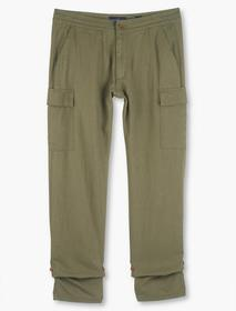 Lucky Brand Linen Pull Up Cargo Pant