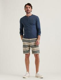 Lucky Brand Stretch Twill Stripe Flat Front Short