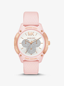 Michael Kors Ryder Embossed Silicone and Rose Gold