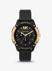 Michael Kors Ryder Embossed Silicone and Gold-Tone