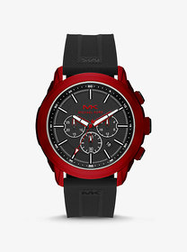 Michael Kors Oversized Kyle Red-Tone and Silicone