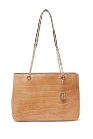 DKNY Croc Embossed Leather Shopper