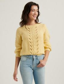 Lucky Brand Pointelle Pullover Sweater