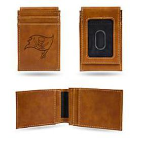 Officially Licensed NFL Engraved Brown Front Pocke