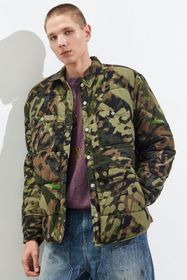 BDG Camo Quilted Shirt Jacket