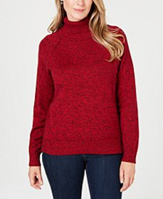 Marled Cotton Turtleneck Sweater, Created for Macy