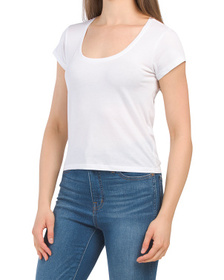 Le High Rise Scoop Neck Tee