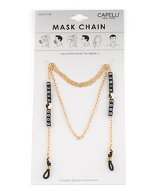 Women's Good Vibes Mask Chain
