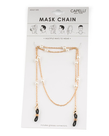 Women's Pearl Mask Chain