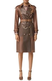 Burberry Flaxseed Double Breasted Trench Coat