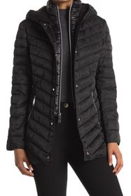 Nine West Mid Weight Puffer Coat with Removable Bi