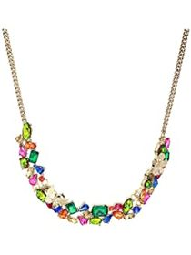 Betsey Johnson Cluster Frontal Necklace