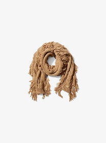Michael Kors Fringed Cable-Knit Scarf