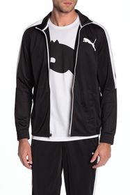 PUMA Colorblock Stripe Zip Up Jacket