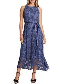Tahari by ASL Petite Sleeveless Soutache Lace Midi