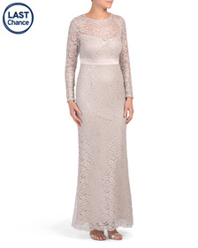 ADRIANNA PAPELL Long Lace Gown