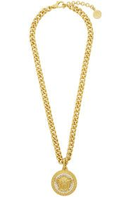 Versace - Gold Crystal Medusa Necklace