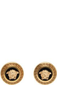 Versace - Gold & Black Medusa Earrings