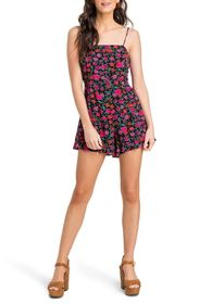 ALL IN FAVOR Floral Ruffle Hem Romper