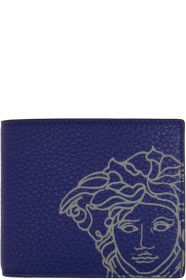 Versace - Blue Pop Medusa Bifold Wallet