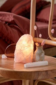 Rose Quartz Crystal Table Lamp