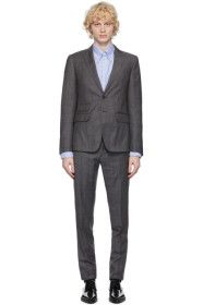 Dsquared2 - Grey Wool Check London Fit Suit
