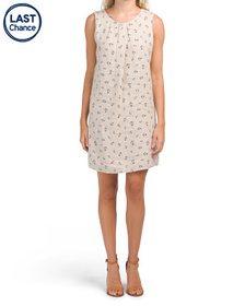 LUNGO L'ARNO Made In Italy Linen Anchor Print Dres