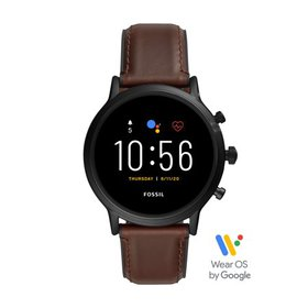 Fossil Gen 5 Carlyle HR Smartwatch - Dark Brown Le