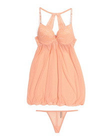 2pc Babydoll Set With Thong
