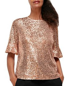 Whistles - Sada Sequined Top