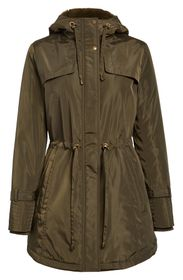 Sam Edelman Faux Fur Lined Water Repellent Hooded
