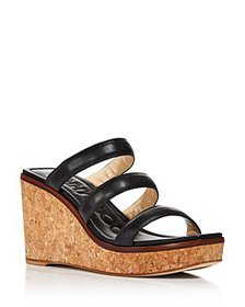 Jimmy Choo - Women's Athenia 90 Strappy Wedge Sand