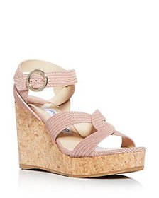 Jimmy Choo - Women's Aleili 100 Platform Wedge San