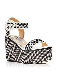 Jimmy Choo - Women's Abigail 100 Strappy Wedge San