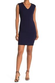 bebe Sleeveless V-Neck Bodycon Dress