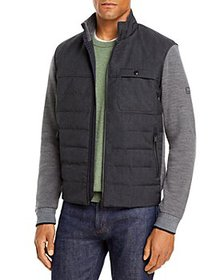 Z Zegna - Z Zegna Hybrid Wool Full-Zip Sweater wit