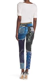 MOSCHINO Printed Slim Leg Pants