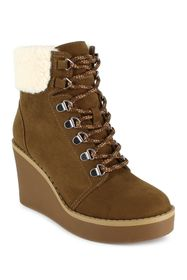 Esprit Roxy Faux Shearling Cuff Wedge Boot
