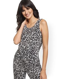 Leopard-Print Super-Soft Knit Tank - New York & Co