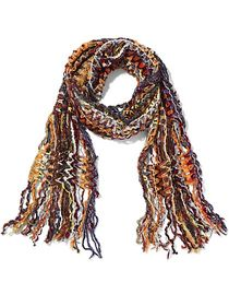 Orange Multi Yarn Fringe Scarf - Sweet Pea - New Y
