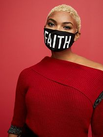 'Faith' Face Mask - New York & Company