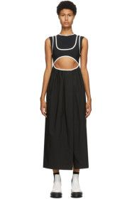 Markoo - Black 'The Double Tank' Cut-Out Dress