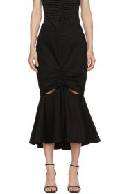 Edit - Black Split Peplum Skirt