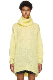 Isabel Marant - Yellow Mohair & Wool Eva Turtlenec