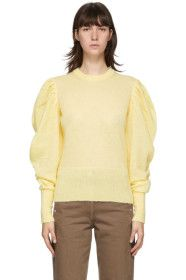 JW Anderson - Yellow Ruched Shoulder Sweater