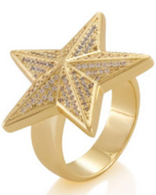 King Ice the star ring (.925 sterling silver)