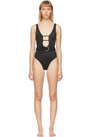 Solid & Striped - Black 'The Beatrice' One-Piece S