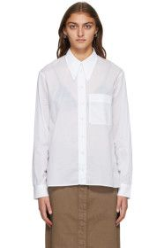 Lemaire - White Pointed Collar Shirt