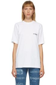 VETEMENTS - White Logo Front Back T-Shirt